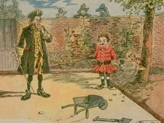 George Washington's Father Discovering George Chopping Down Cherry Tree from LIFE Magazine