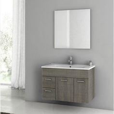 ACF by Nameeks ACF LOR01-GO Loren 33-in. Single Bathroom Vanity Set - Gray Oak Senlis - ACF LOR01-GO-