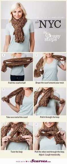 Love the last step in this tutorial on How to Tie a Scarf.... Hahaha!!! (Laughing maniacally)  Heh!