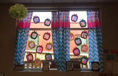 Apple sun catchers using coffee filters and markers!