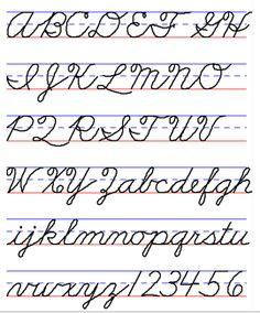 Zaner-Bloser Cursive, Handwriting Style