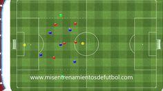 Ejercicios de fútbol - 5 jugadores contra 5, 2 porteros, 2 neutrales en ...