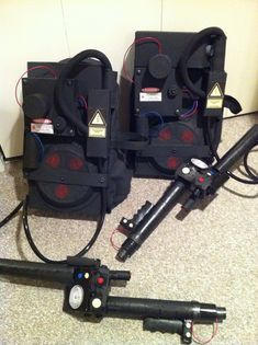 Homemade Ghostbuster power packs / proton packs for Halloween 2012. My husband said it was his favourite costume so far!