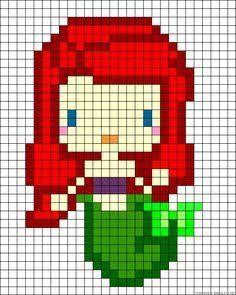 La Petite Sirène En Pixel Art Trop Beau Je Quiffe Pixel