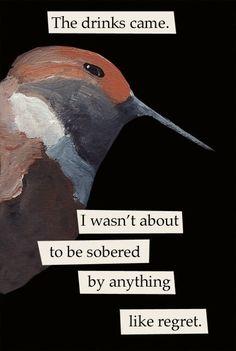 Regret bird RECTANGLE MAGNET by MincingMockingbird on Etsy, $4.50