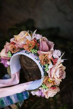 Sohemi_art / Ľudová svadobná kvetinová parta