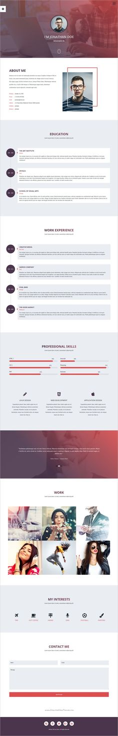 Free PSD  Clean And Designer Resume CV Template PSD Cv template - free resume html template