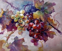 Adminsitrator Grape Challenge - Grapes #1 PLUS | ARTchat - Porcelain Art Plus (formerly Chatty Teachers & Artists) Celeste McCall Artist