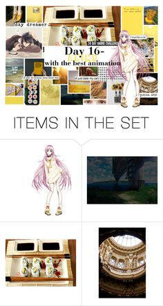 """30 Day Anime Challenge- Day 16- Anime with the best animation"" by drinkdionysus ❤ liked on Polyvore featuring art"