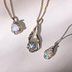 "3,412 likerklikk, 45 kommentarer – HLSK (@hlsk) på Instagram: ""If rings aren't your thing, we've got you covered ✨ Dainty necklaces with moonstone, opal and topaz…"""