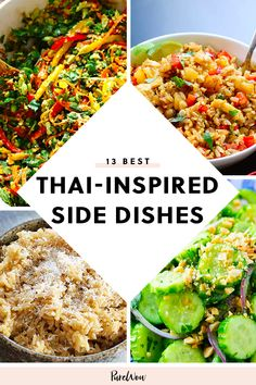 13 Thai-Inspired Side Dishes to Spice Up Your Meal dish Food Recipes Healthy, Food Recipes Keto Side Dish Recipes, Asian Recipes, Dinner Recipes, Ethnic Recipes, Thai Food Recipes, Japanese Recipes, Asian Foods, Chinese Recipes, Party Recipes