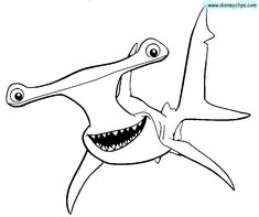 Nemo Shark Coloring Pages – Coloring for every day Finding Nemo Coloring Pages, Shark Coloring Pages, Fish Coloring Page, Coloring Pages For Kids, Coloring Books, Kids Coloring, Dory Drawing, Shark Drawing, Free Printable Coloring Pages