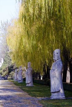 The statues of the officials by the path leading to 13 Ming emperors' Tombs in the outskirts of Beijing