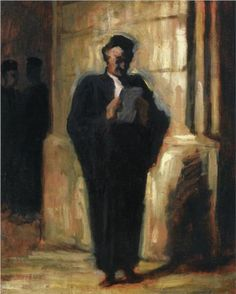 Attorney Reading - Honore Daumier