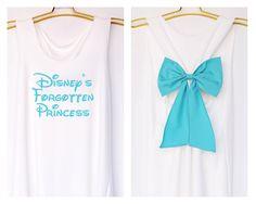 Disney's forgotten Princess Tank Premium with Bow : Workout Shirt - Keep Calm Shirt - Tank Top - Bow Shirt - Razor Back Tank by DollysBow on Etsy https://www.etsy.com/listing/204450707/disneys-forgotten-princess-tank-premium