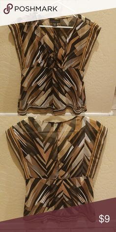 Blouse Multi color, zips on side. Sheer blouse Tops Blouses
