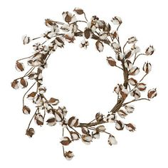 wreaths can be the most perfect of all wall art - soft cotton and gossypium make this  one a stunner.