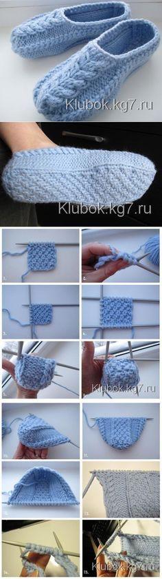 Ideas for crochet mittens pattern knit socks Knitted Slippers, Crochet Slippers, Knit Or Crochet, Crochet Baby, Knitting Socks, Free Knitting, Knit Socks, Knitting Projects, Crochet Projects