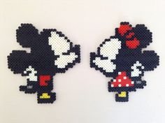~Mickey and Minnie~ Mini Perler Bead Sprites