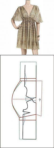 Simple patterns and elegant dress