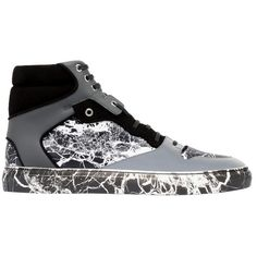 ea24073a7499 Balenciaga Marble High Sneakers (£355) ❤ liked on Polyvore featuring men s  fashion