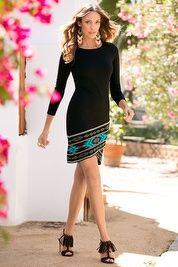 Tribal long-sleeve dress