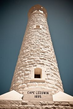 Cape Leeuwin Lighthouse located on the  most southwesterly point of Australia in the state of Western Australia.