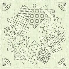 Kaza-Guruma 1 QH Textiles Sashiko Fukin Japanese cotton sashiko sampler cloth KF2020-11 beige greige