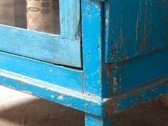 Blue Wood Cabinet from Scaramanga's Vintage Furniture Collection