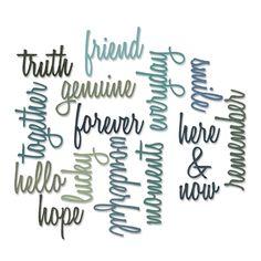 Tim Holtz Sizzix FRIENDSHIP WORDS SCRIPT Thinlits Die 660225 Preview Image