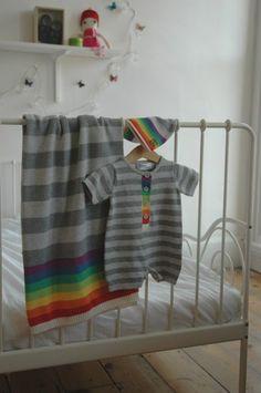 Babysoft Rainboe Cotton dress with matching trouser