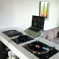 DJ Setup. #dj #djculture #music #twoturntables #djgear http://www.pinterest.com/TheHitman14/dj-culture-vinyl-fantasy/