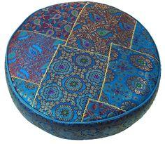 Cuscino orientale rotondo Patchwork 40 cm, con imbottitura di cotone: Amazon.it…