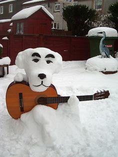 K.K. Slider (Animal Crossing) snowdog snowmen