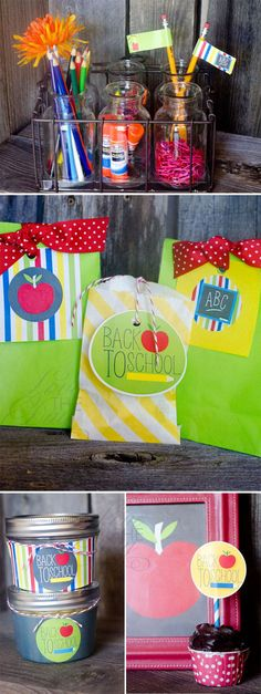 Back To School Party Ideas by Lindi Haws Back To School Party, Back To School Crafts, School Parties, Diy Party, Party Ideas, Gift Ideas, Stocking Stuffers For Men, Basketball Party, Party Flags