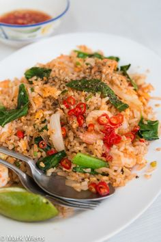 Thai Fried Rice Recipe with Shrimp (Khao Pad Goong By = Bent Philipson Chef