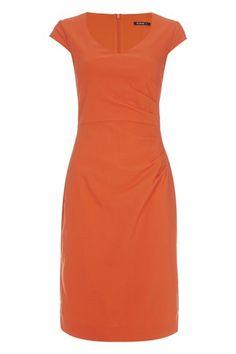 7e9d25424e6 V-Neck Side Pleat Dress Plus Size Fashion