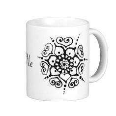 20 interesting shapes- Flower Of Love (Henna) Coffee Mugs. I LOVE mehndi!!