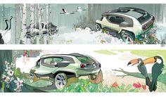 Kimberly Wu, Nissan Joy, concept car illustrations