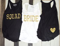 Bride Squad Racerback Tanks/ Tank Tops/ by SimplyAmourFashion