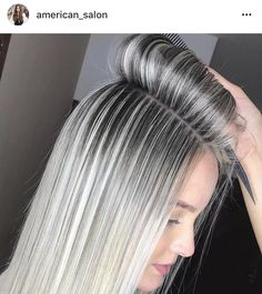 blaine holmes (: The Effective Pictures We Offer You About ash blonde balayage highlights A quality Blonde Hair Looks, Brown Blonde Hair, Grey Hair, Gray Hair Highlights, Platinum Blonde Highlights, Full Highlights, Platinum Blonde Hair, Ash Blonde Balayage, Ombre Hair