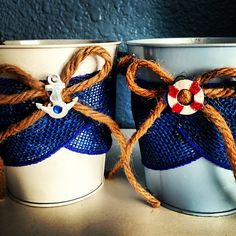 Nautical baby shower do buckets and spades for candy bar buffet