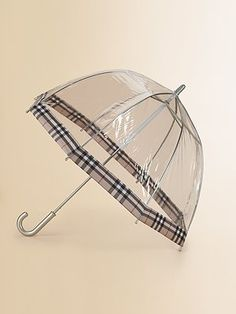 Burberry Clear Umbrella..for when I feel like having a Charlotte moment