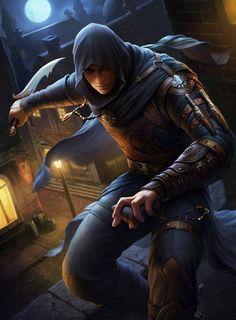 Ladino: Roupa leve, cobrindo o rosto, usando adagas como arma. Próprios para ataques rápidos e lhe dar mais mobilidade.
