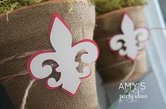 Amy's Party Ideas: Cub Scout Blue Gold Ceremony {Real Parties I've Styled} Table Centerpieces