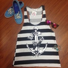 #anchor #stripes #fashion #tee #brazil #summer #2016