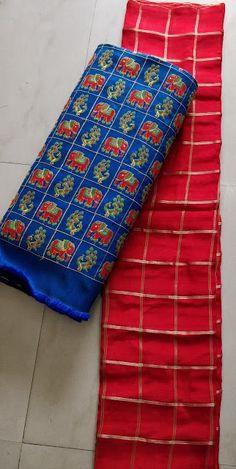Pure chiffon saree with designer blouse