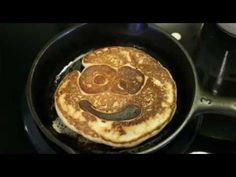 Happy pancakes in a #3 cast iron pan