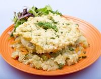 Meatless Monday: Vegetable Casserole With Biscuit Topping