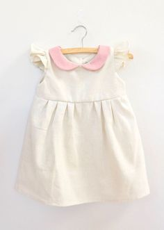 Handmade Vintage Style Linen Baby Dress | Dabishoo on Etsy